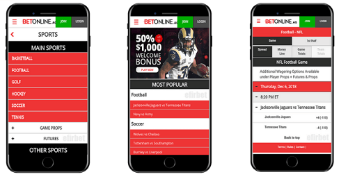BetOnline AG Mobile Sports Betting App