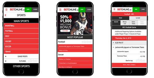 BetOnline AG Mobile Sports Betting App