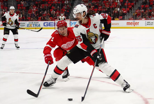 Detroit Red Wings at Ottawa Senators Odds